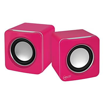 fee478c02006 Arctic S111 - Altavoces para PC (USB, 2.0, 3.5 mm) Color Rosa: Amazon.es:  Electrónica