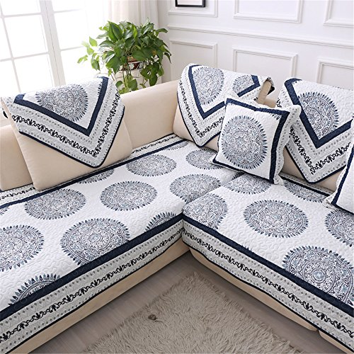 """OstepDecor Multi-size Pet Dog Couch All Seasons Quilted Cotton Furniture Protectors Covers for Sofa, Loveseat 