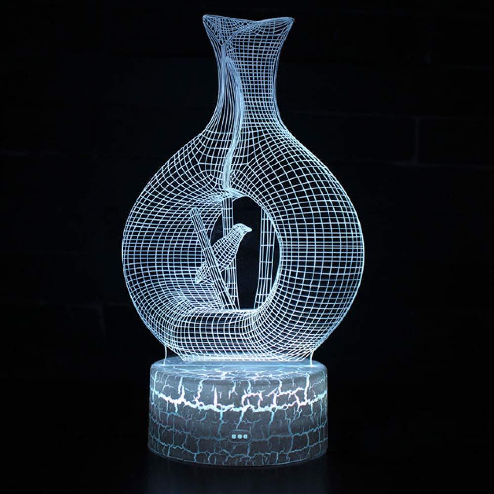 orangeww lámpara de mesilla de noche Caged Bird Led Night ...