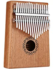 SODIAL 17 Keys Kalimba Thumb Piano Finger Piano Musical Toys with Tune-Hammer and Music Book