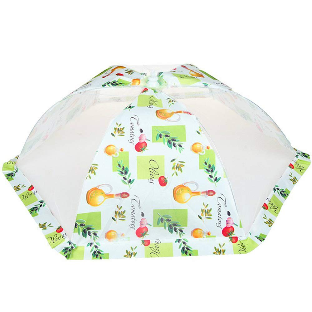 Food Dust Cover, Household Meals Cover Dish Cover Foldable Table Cover Food Anti-Fly Leftover Dish Umbrella Rice Bowl(3 Pcs),C,6Pcs