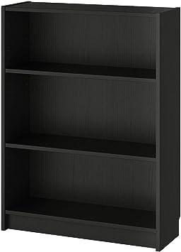 Librería IKEA BILLY negro-marrón (80x28x106 cm): Amazon.es ...