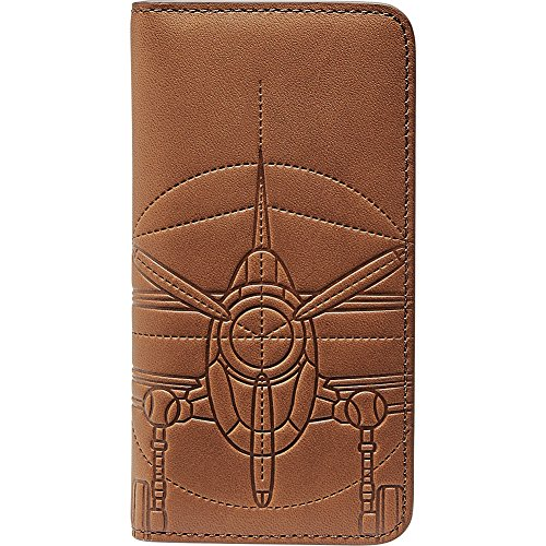 Fossil Embossed Wallet - Fossil Men's Embossed Plane Leather Phone Case Wallet Iphone 7