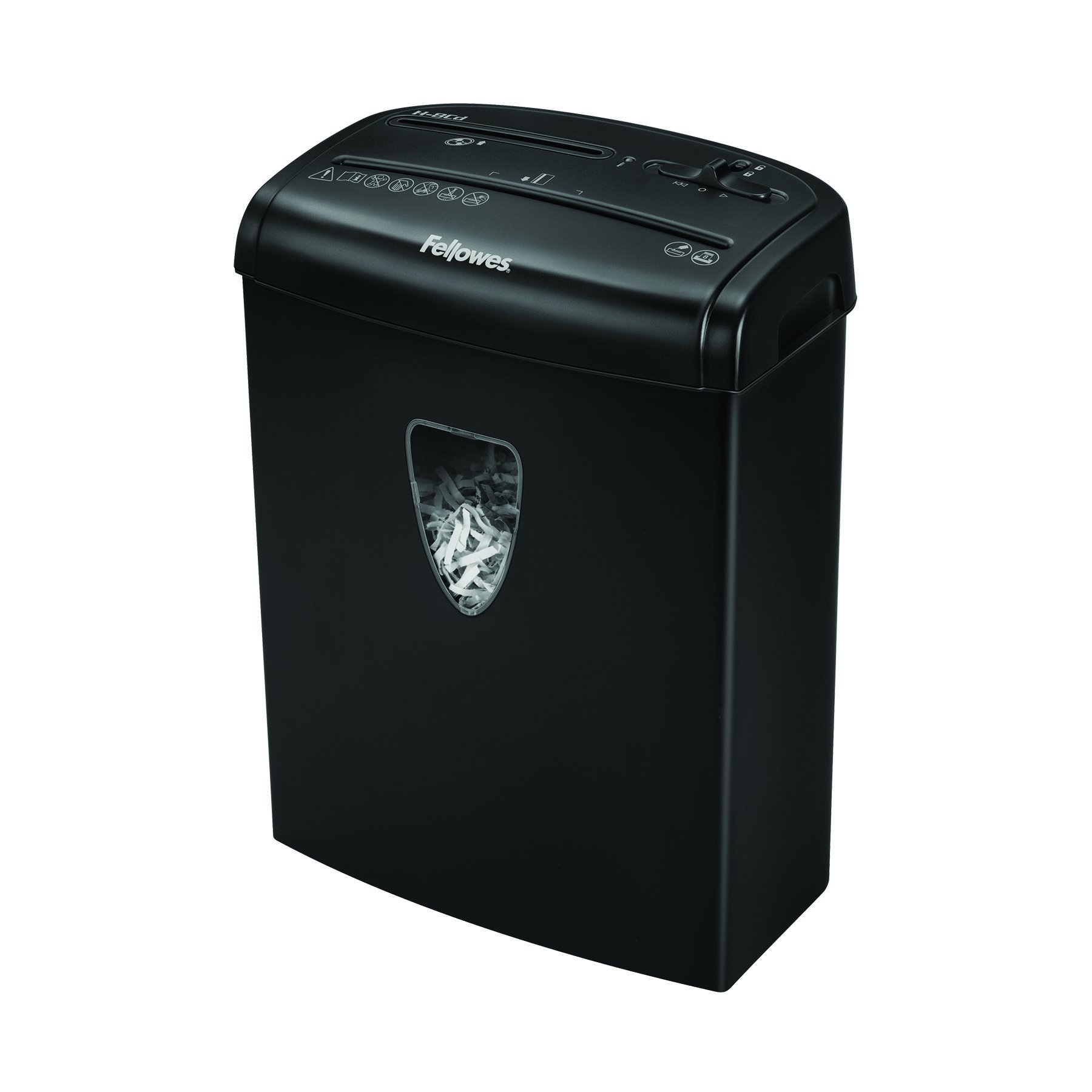 Fellowes Powershred H-8C 8-Sheet Cross-Cut Home and Deskside Paper Shredder with Safety Lock (4684301)