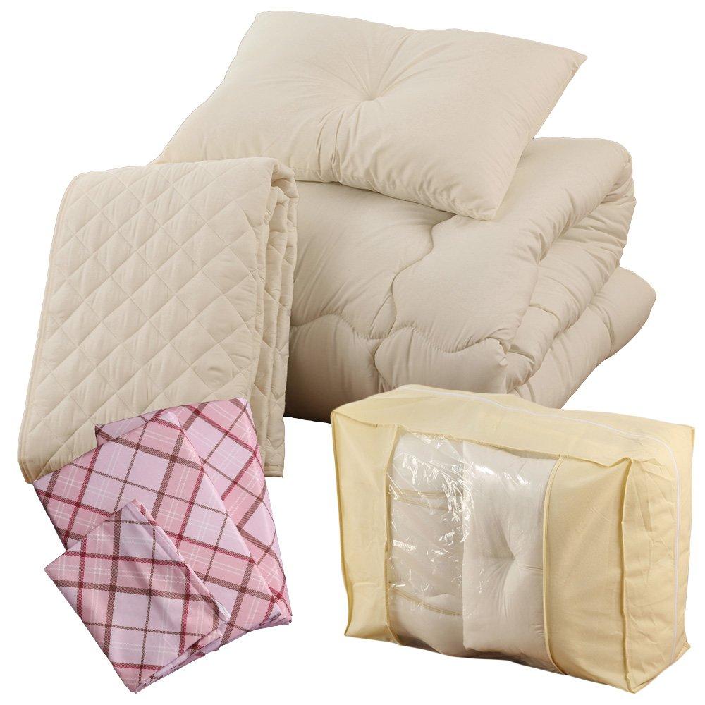 すぐに使える 高品質 ベッド用7点セット セミダブル チェック柄 ベビーピンク A092-SD014SDB047PK B01MDTO34O セミダブル|チェック柄ベビーピンク チェック柄ベビーピンク セミダブル