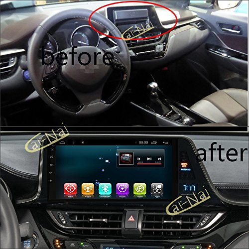 Amazon.com: Car Radio Audio GPS Navi Android 7.1 for Toyota C-HR 2016 2017 2018 Car Stereo Multimedia Player GPS Navigation No CD DVD Head Unit Bluetooth ...