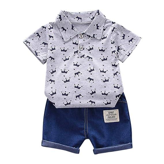 Baiomawzh Counjunto de Ropa Bebé Niño Verano 2pc Camisa de ...