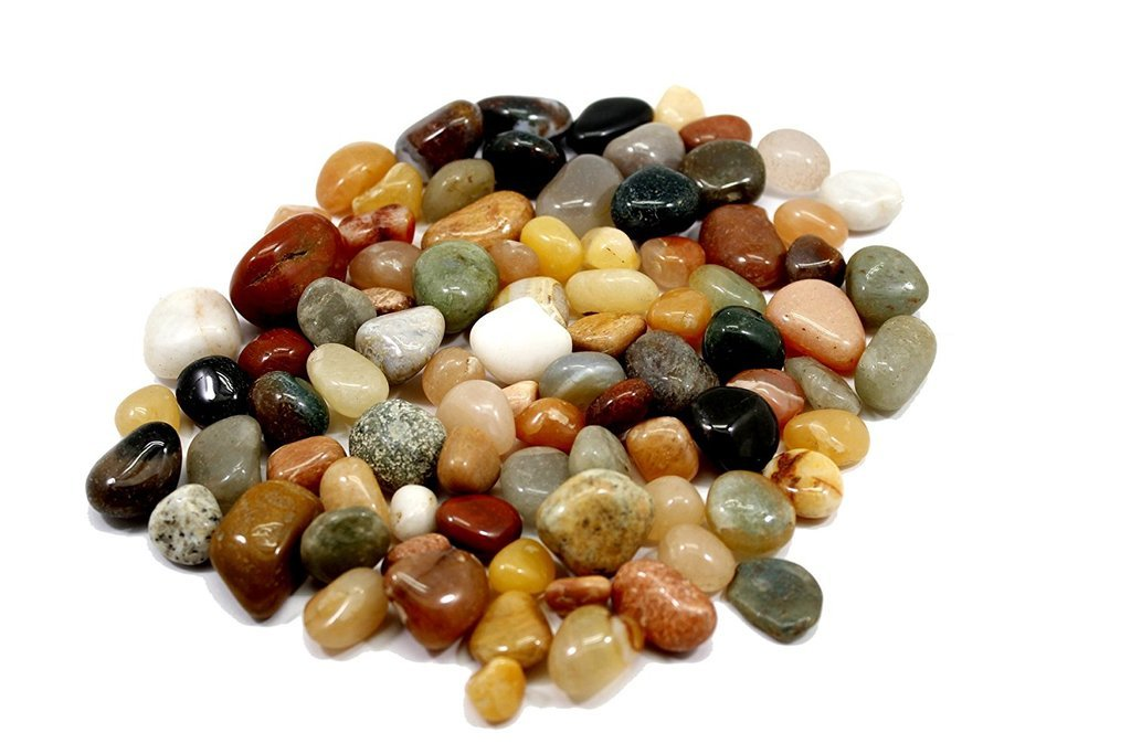Femora Decorative Ornamental River Pebbles Rocks for Vase filler,Landscaping, Home Décor -2.2 Pounds