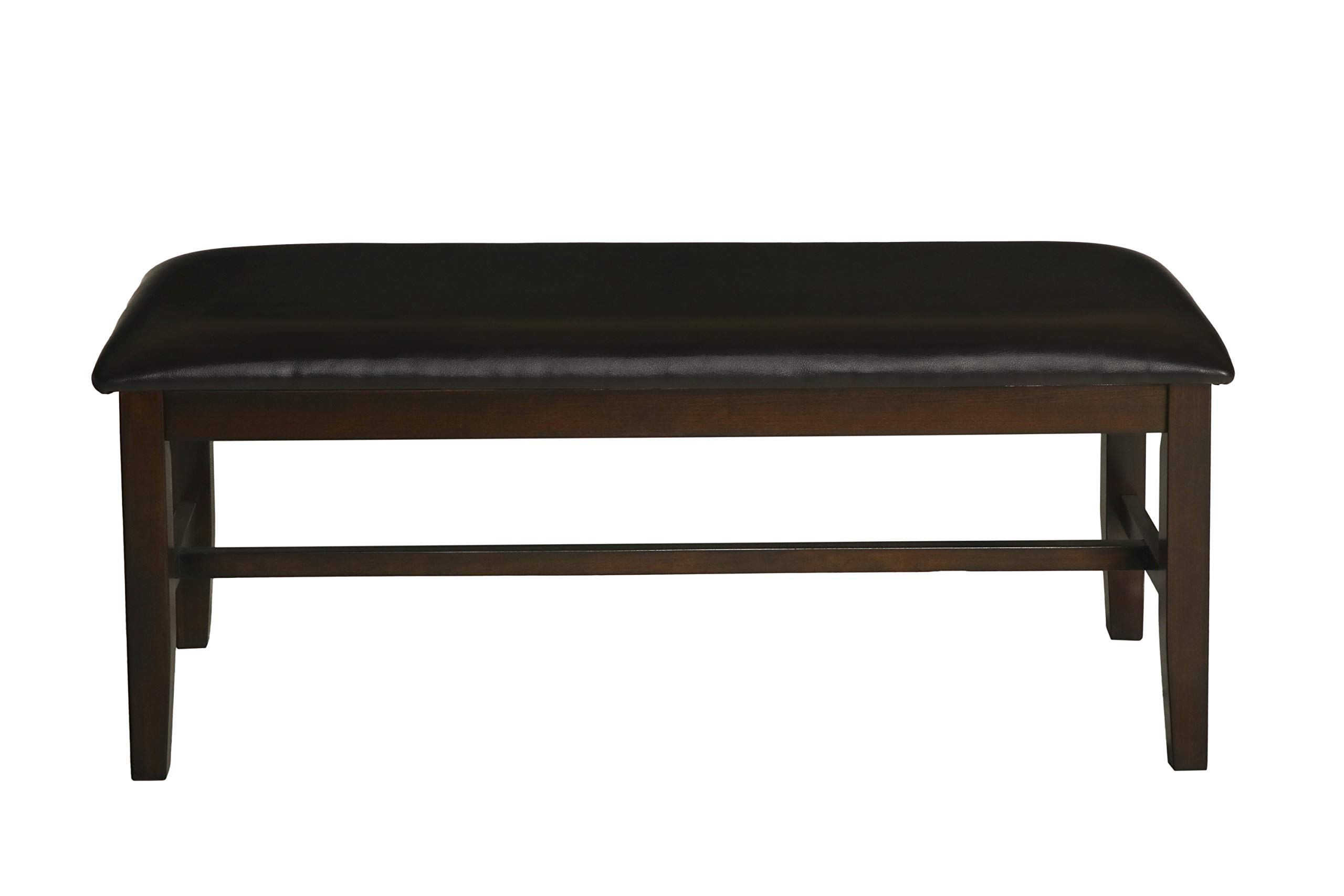 New Classic Furniture 40-150-25C Latitudes Long Bench, Dining, Chestnut