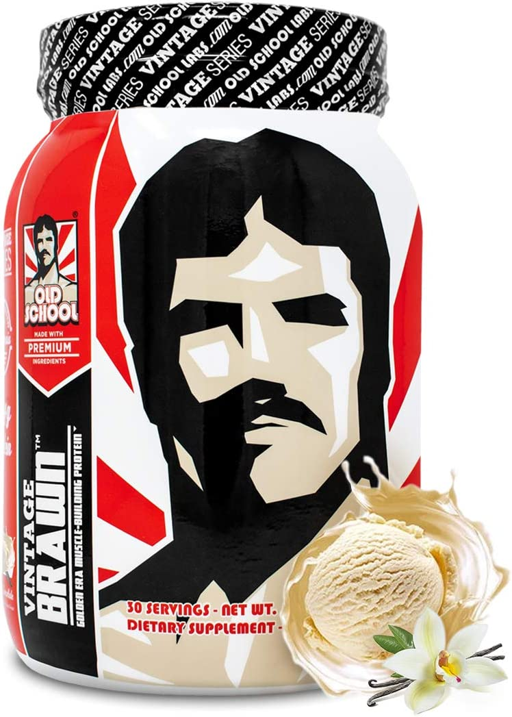 Vintage Brawn Protein - Muscle-Building Protein Powder - The First Triple Isolate of Premium Egg, Milk (Whey and Casein), and Beef Protein - Vanilla Milkshake with Zero Sugars and No Artificials: Health & Personal Care