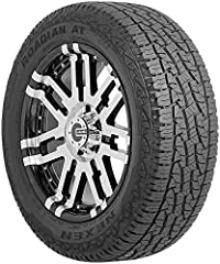 With the Nexen Roadian A/T Pro RA8 on your SUV, you can go pretty much anywhere you like. Take that bumpy dirt road – the tread resists picking up gravel and protects against damage from rocky obstacles. Don't worry about rain, mild snow, or ...