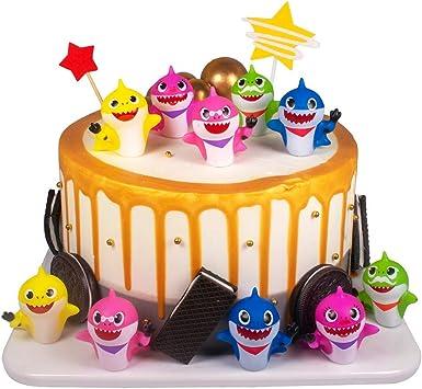 Amazon.com: Sakolla - 10 adornos para tarta de cumpleaños ...