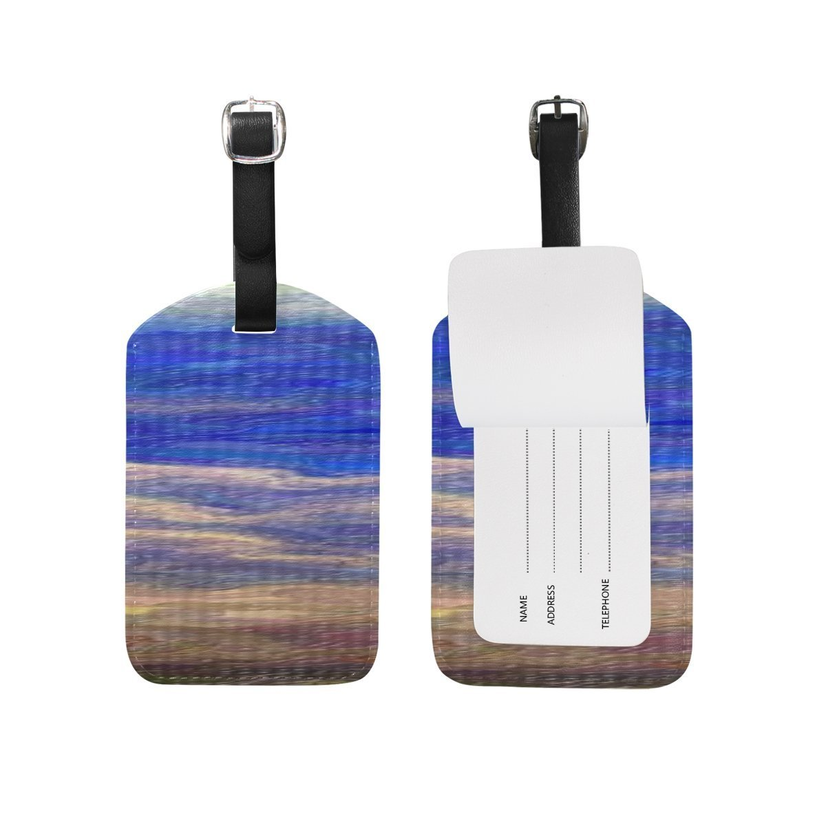 Painting Sky Clouds White Blue Sky Atmosphere Air PatternSuitcase Luggage Tags