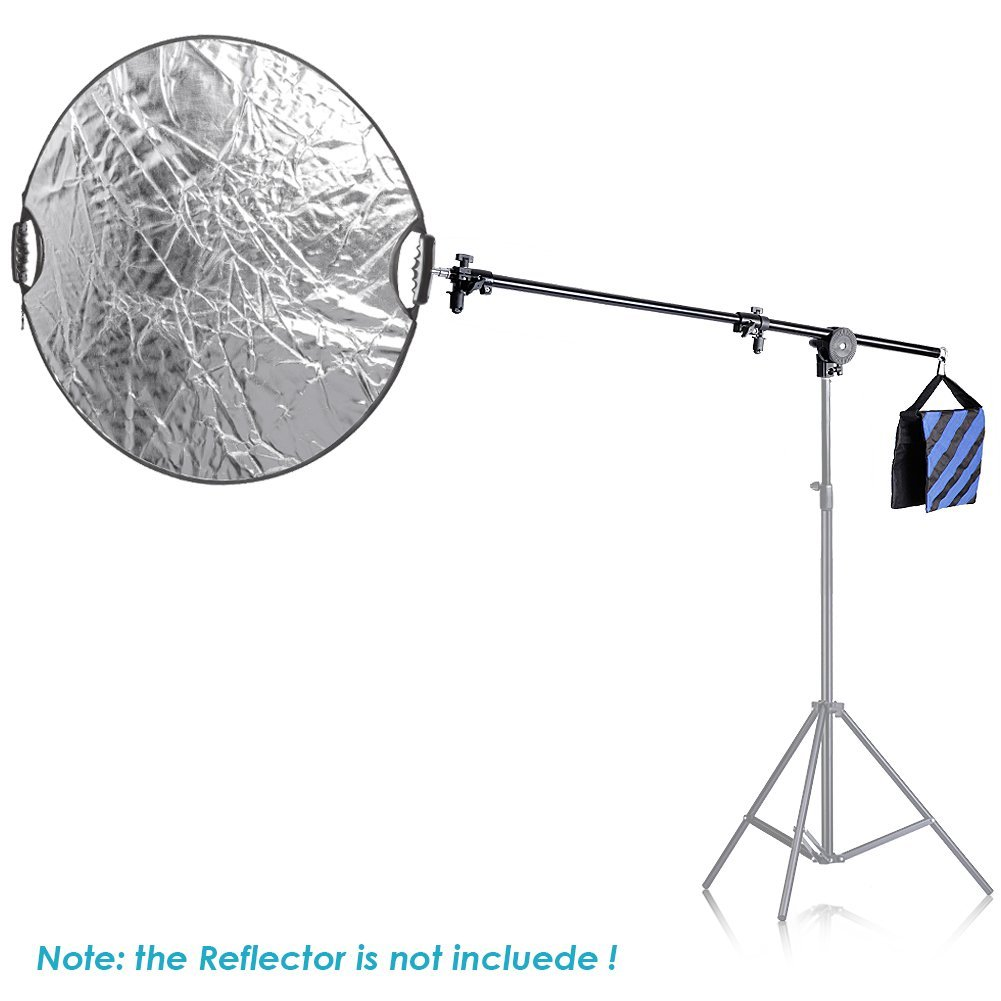 Neewer 30''-75''/76-190cm Swivel Head Aluminum Alloy 1/4'' Thread Mount Boom Arm Holder with Sandbag for Reflector,LED Video Light,Strobe Light,Monolight and Other Photographic Equipment by Neewer (Image #4)