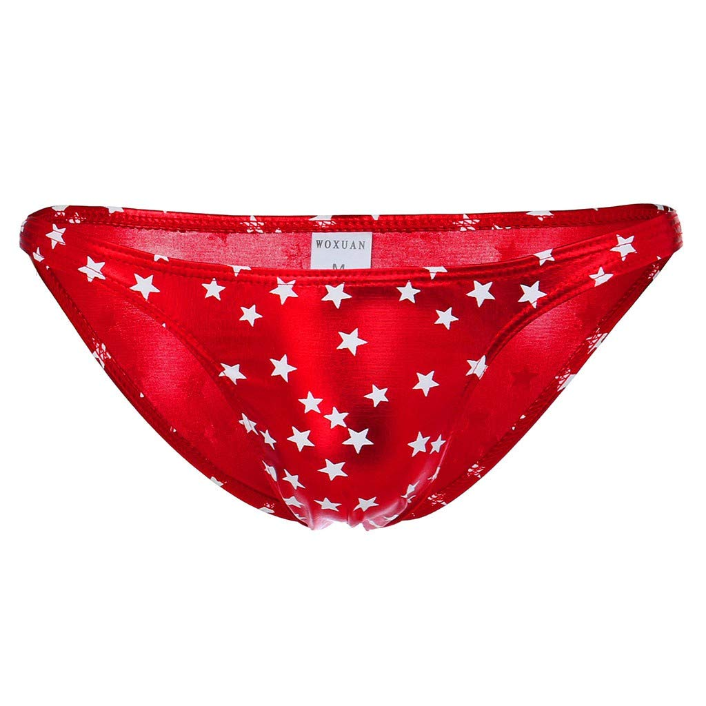 Boys Casual Underpant Boyfriend's Gift The Present for Dad Male's Clothes Deals Red