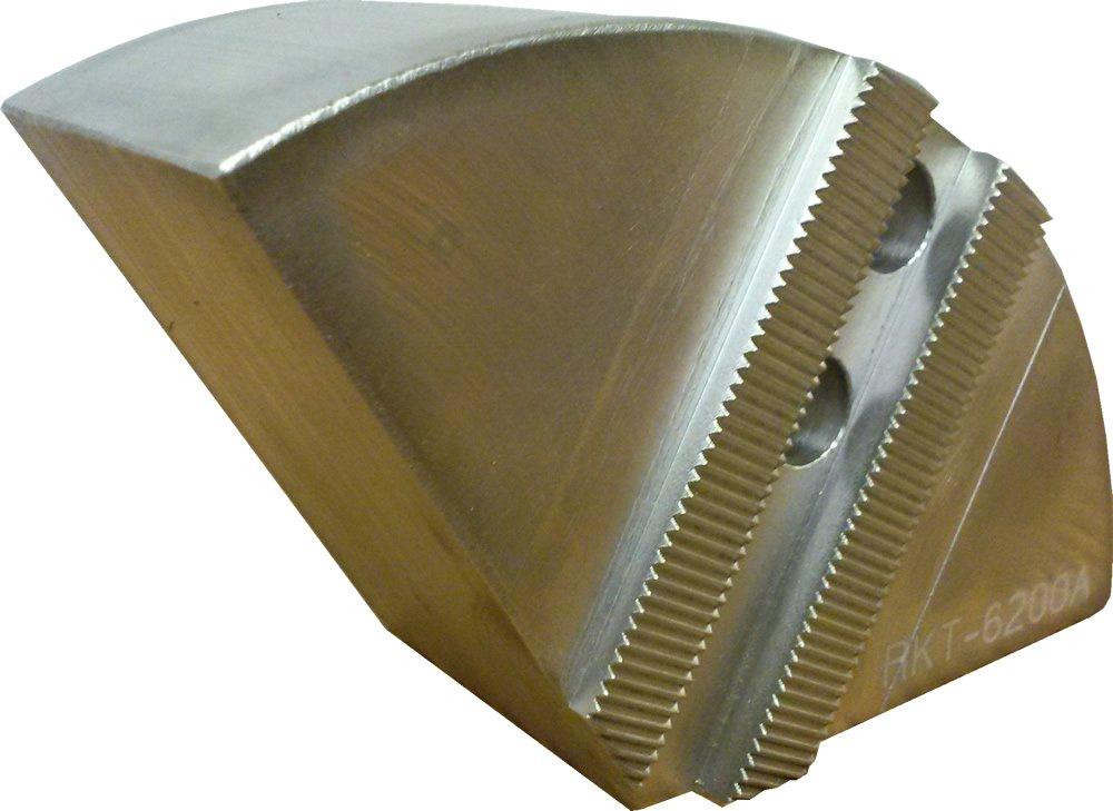 USST RKT-6200A Aluminum 6061 T6, Round Chuck Jaws for 6'' CNC Lathe Chucks, 2'' Tall (Set of 3 Pieces)