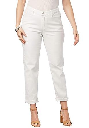 62f8f53a71 Roamans Women s Plus Size Boyfriend Jean at Amazon Women s Jeans store