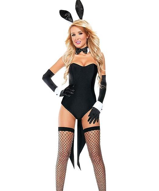 203a0a242fa Amazon.com: Kadila Women's 5 Piece Lingerie Set Sexy Bunny Girl ...