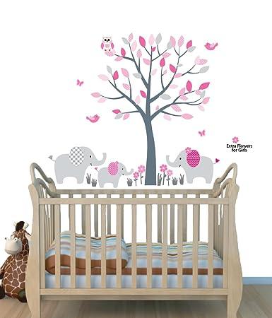 Amazoncom  Fabric Wall Decals Animal Decal Elephant Tree Decal - Nursery wall decals elephant