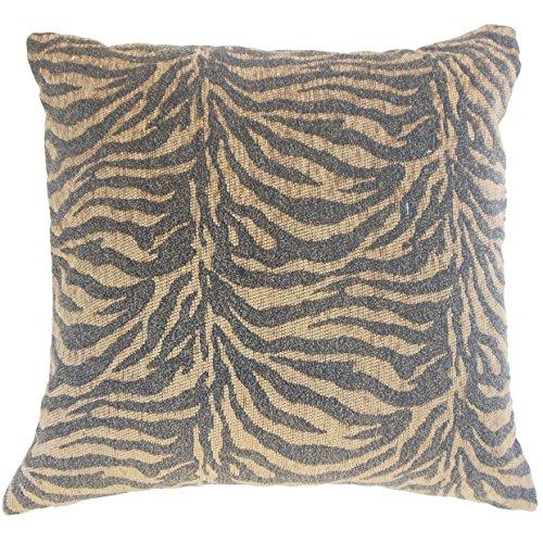 (The Pillow Collection Caiya Animal Print Bedding Sham Tiger Euro/26