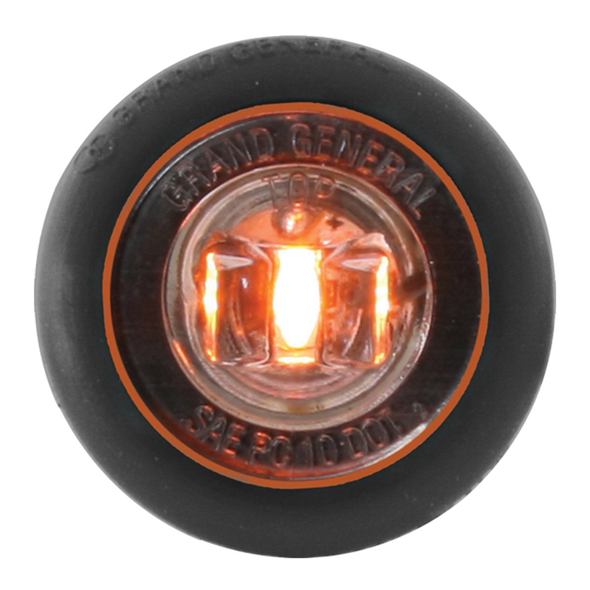 """GG Grand General Grand General 75284 1/"""" Dual Function Mini Wide Angle LED Light for Trucks UTVs White//Clear Towing RVs and more ATVs Trailers"""