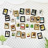 Marcos de exhibición colgantes de la foto,Decoraciones de la pared de la red de pesca Foto Colgando con 40 clips