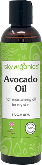 Avocado Oil by Sky Organics (8oz) 100% Pure Natural & Cold-Pressed