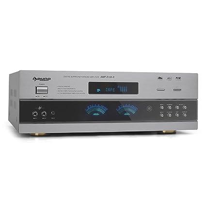Auna AMP-5100 Amplificador 5.1 Receptor Surround Gris (1200W, sonido envolvente, 2