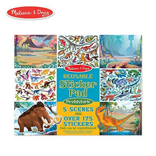 Stickers Dinosaur Little - Melissa & Doug Prehistoric Reusable Sticker Pad