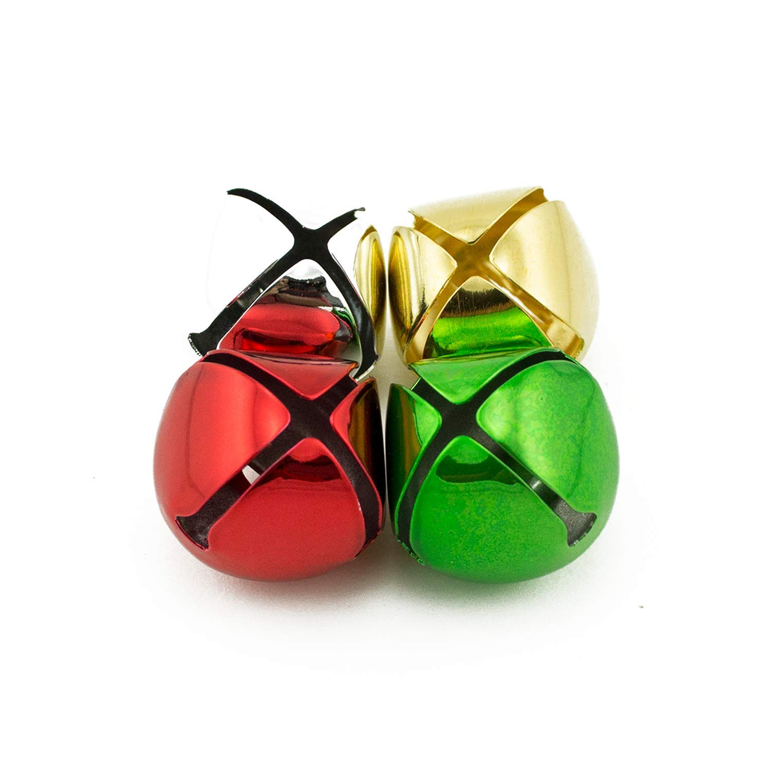 1 inch 25mm Gold Silver Red Green Mix Large Craft Jingle Bells Bulk 144 Pieces by Art Cove (Image #3)