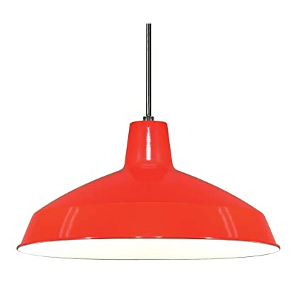 Nuvo lighting sf76663 warehouse shade red ceiling pendant nuvo lighting sf76663 warehouse shade red aloadofball Gallery