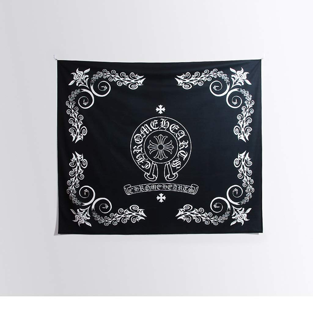 Tapestry Crowe Heart Tapestry Black and White Tapestry Hippie Tapestry 150CM×130CM,200CM×150CM Tapestry (Size : 150CM×130CM) by HappyL