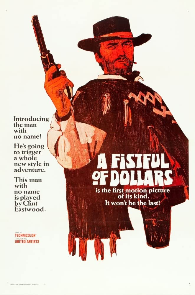 Amazon.com: A Fistful Of Dollars Clint Eastwood 1964 Movie Poster ...