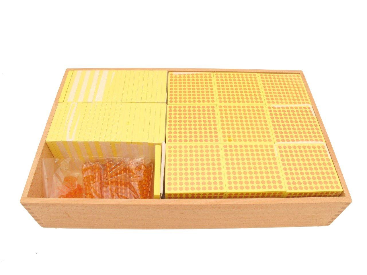Montessori Decimal System Combination Tray (100-1000) by PinkMontessori