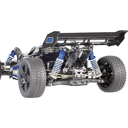 mit Federn Schwarz 126 mm Reely 1:8 Aluminium-Öldruckstoßdämpfer Blau metallic
