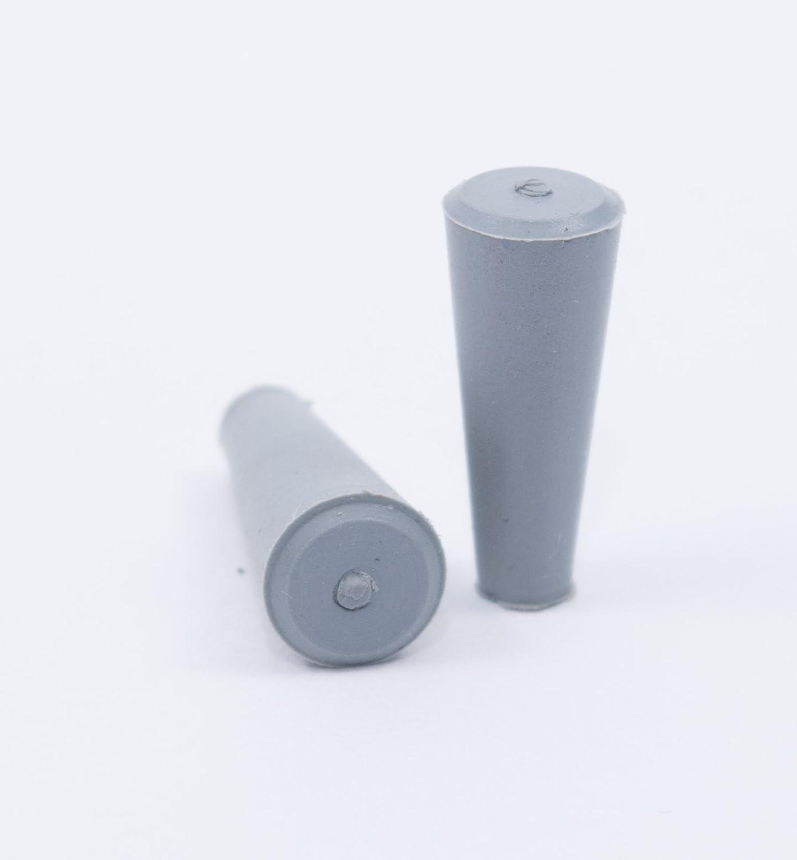 konische Form grau Laborshop24-1010105 Gummistopfen 100 St. Naturkautschuk /Ø 5-9 x 20 mm