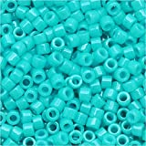 Miyuki Delica Seed Beads 11/0 Dyed Opaque Turquoise Green DB658 7.2 Grams