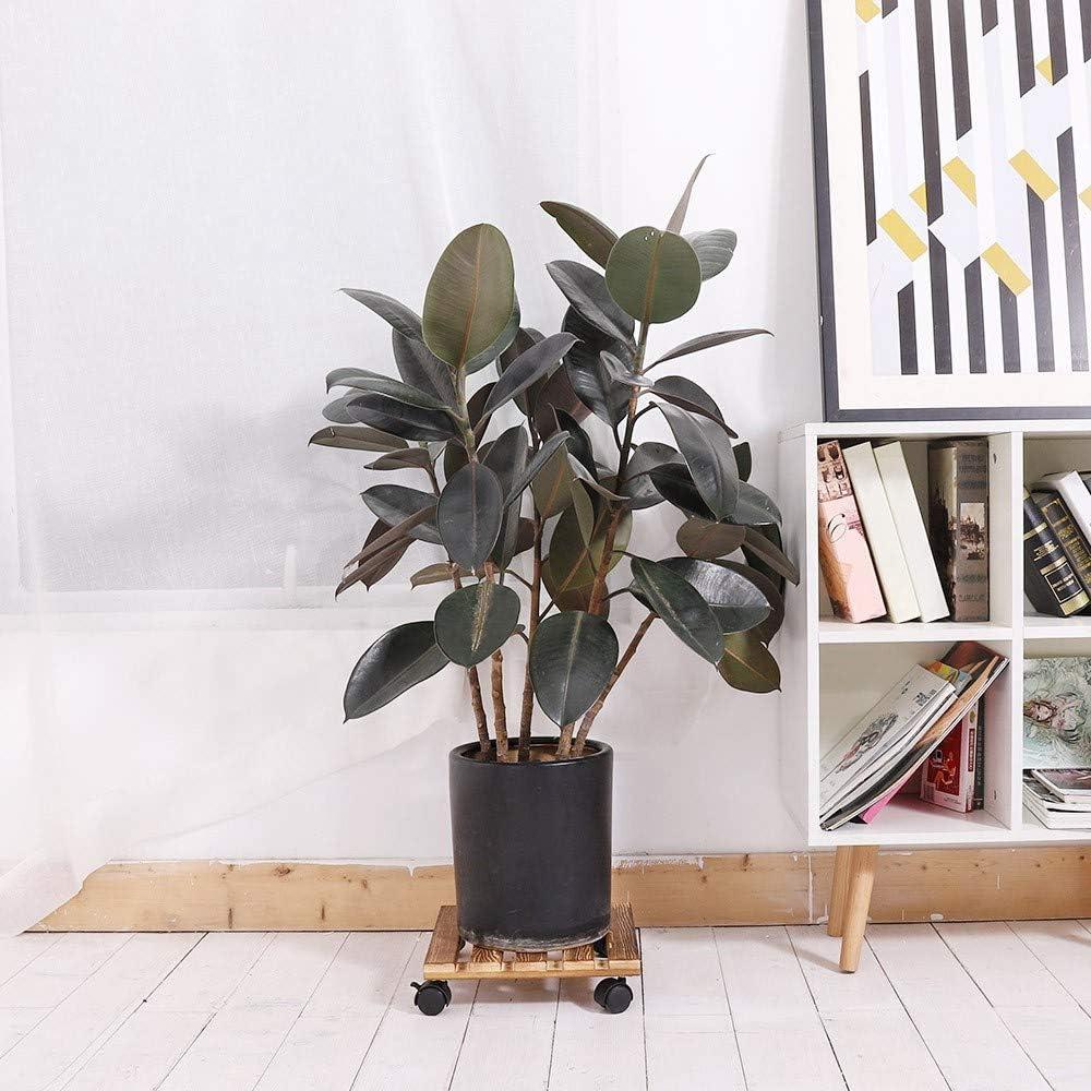 Dewel Soporte Redondo con Ruedas para Macetas Base M/óvil de Plantas Flores para Jard/ín Hogar Interior Exterior Carga Maxima 200kg