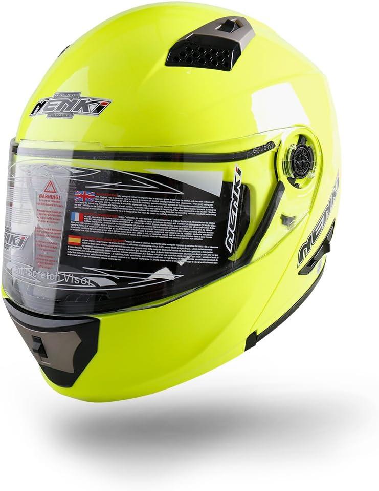 apribile integrale modulare NENKI NK-860 Casco per moto e scooter Hi Viz, Small