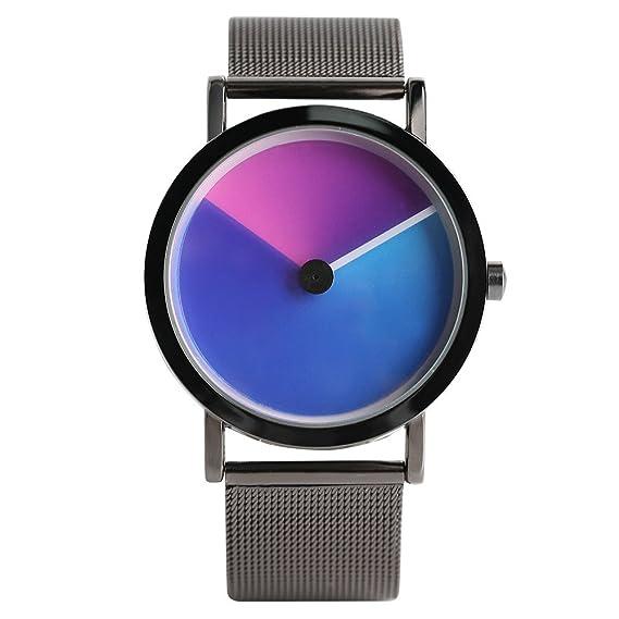 Turntable Geek Watch for Men & Women, No Pointer Gradient Color Dial, Vortex Design