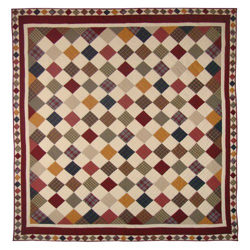 UPC 713639046799, Patch Magic Rustic Cabin Luxury King Quilt, 120-Inch by 106-Inch