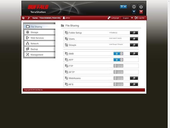 Buffalo TeraStation 3410DN Ethernet Escritorio Negro NAS - Unidad ...