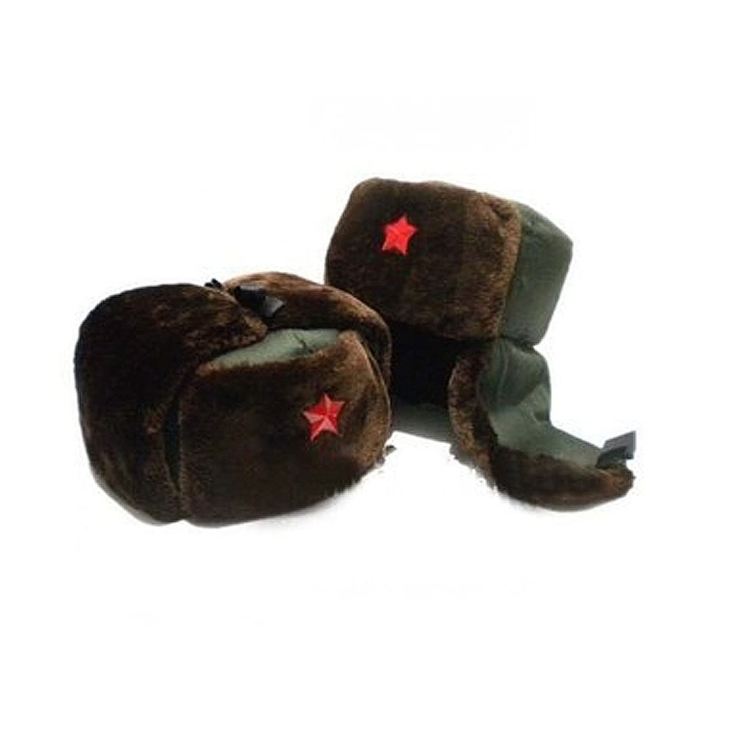 Chinese Russian Army Trooper Winter Hat Ushanka Green Warm Cap Red Star  Badge at Amazon Men s Clothing store  f482f7412ac