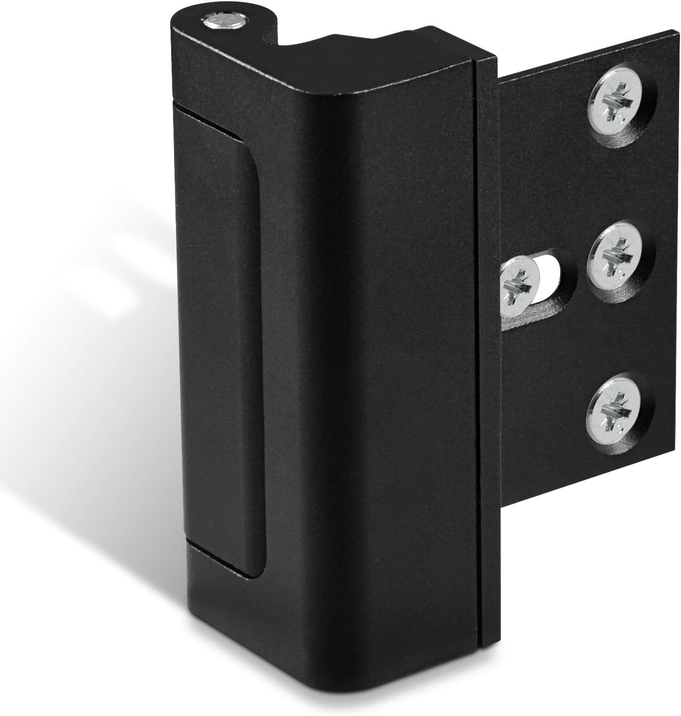 Lifechaser Home Security Door Reinforcement Lock Childproof Door Lock, Add High Security to Home Prevent Unauthorized Entry, Aluminum Construction Finish (1, Black)