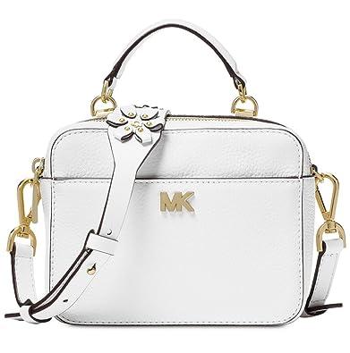 ccab809b38da3 MICHAEL Michael Kors Mini Floral Guitar Strap Crossbody - Optic White   Handbags  Amazon.com