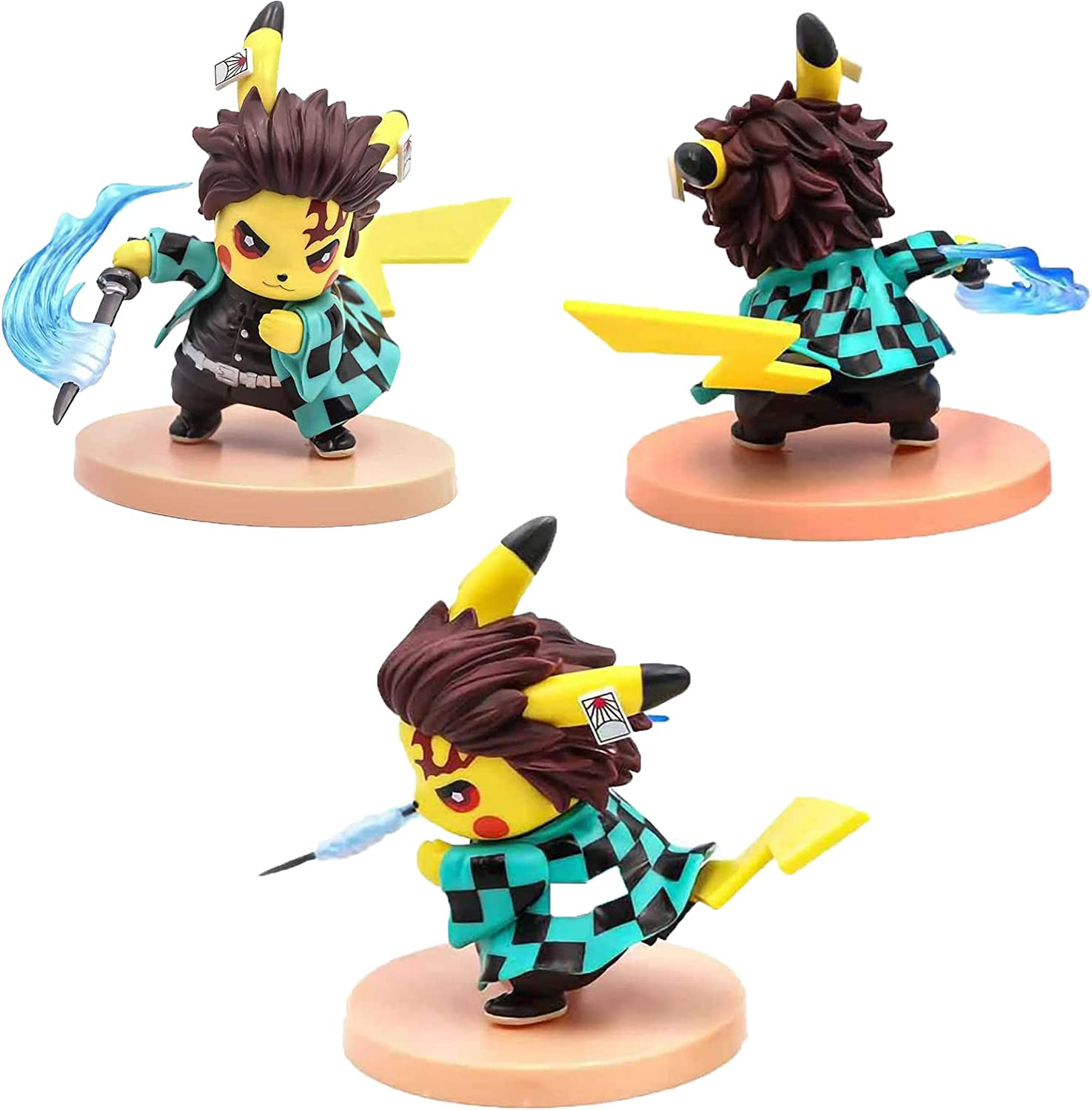 For Boys and Girls Birthday Party Figure Toys Gifts PVC 4.3 Birthday theme Party Supplies Demon Slayer Blade Pikachu Cosplay Birthday Cake Decoration