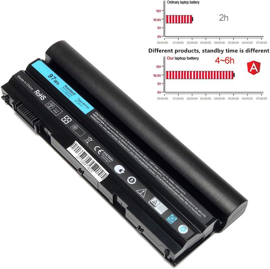 K KYUER 97WH M5Y0X Batterie pour Dell Latitude E6420 E6430 P25G001 E6520 P14F001 E6530 E5420 E5520 E5430 E5530 P28G-001 E6440 E6540 P29F001 Vostro 3460 3560 Precision M2800 71R31 N3X1D T54FJ T54F3