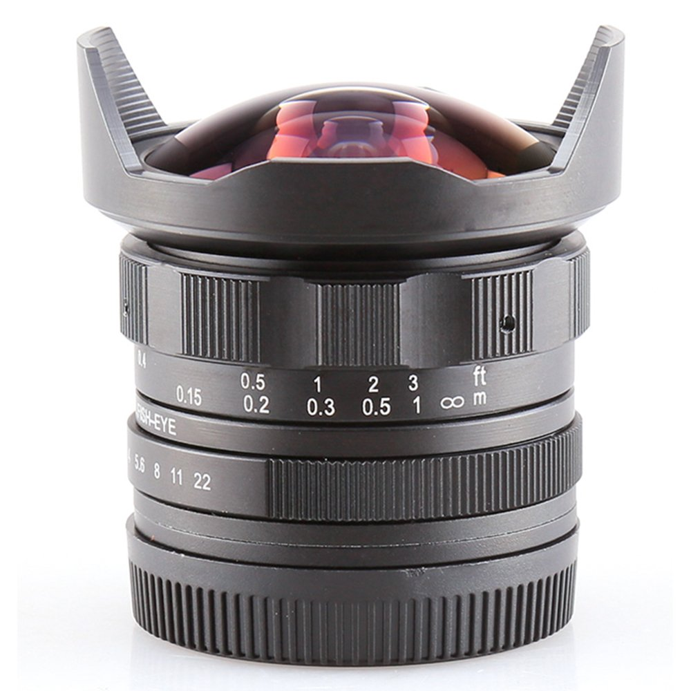 Pixco APS - Cサイズcl-mil7528 N 7.5 MM f2 . 8 Fish - Eye Wide Angle Lens for MFT m43 m4 / 3マイクロ4 / 3   B0727X1H11
