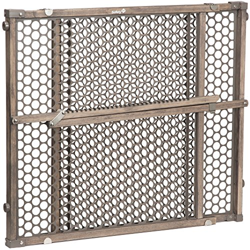 Safety 1st Vintage Grey Wood Gate, Grey