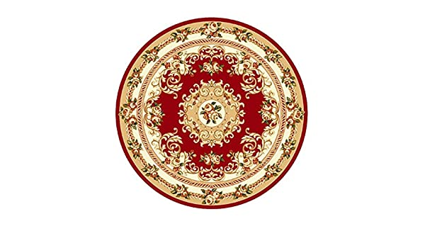 Alfombras Sinceridad Tradicional Alfombra Redonda Rojo ...
